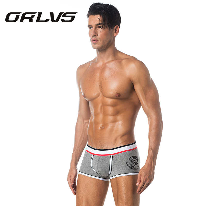 ORLVS Mens Underwear Cotton Boxer Male Panties Shorts Sexy Underpants Slip Men's Boxer Jockstrap Sleep Brand Men Boxer Shorts