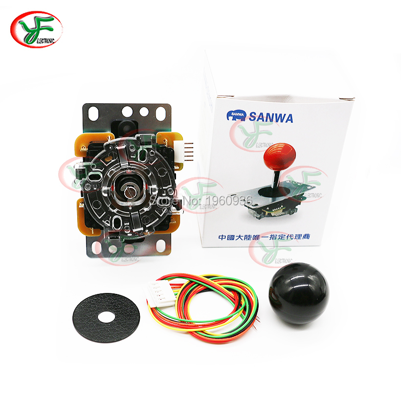 Original Sanwa JLF-TP-8YT joystick With 5-Pin Wiring Arcade Joystick for Arcade Game Machine Accessories/Cabinet Parts