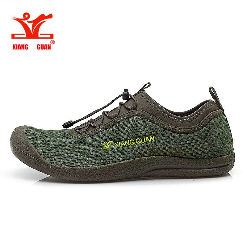 XIANG GUAN Running Shoes for Man Breathable Spring and Summer Outdoor Sneakers respirable Light Mesh cheap