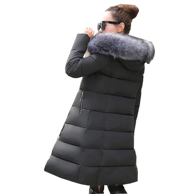 new 2016 women winter jacket duck down coats faux  fur collar warm Parka plus size slim medium-long overcoat women parka kp1312