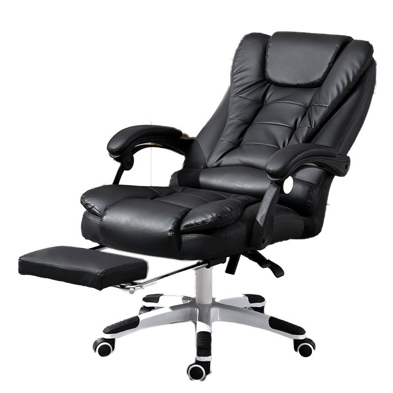 Luxury Quality H-7 Gaming Poltrona Boss Chair Massage Synthetic Leather With Footrest Ergonomics Can Lie Office Furniture