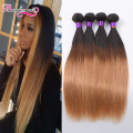 Ombre Peruvian Virgin Hair Straight 4 Bundles Ombre Straight Hair Weave 8A Grade Virgin Unprocessed Ombre Human Hair Extensions