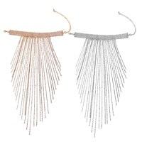 Mode Charme Schmuck Kristall Kragen Chunky Langen Fransen Quasten Halskette Schmuck Geschenke