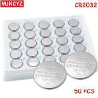 50Pcs 3V CR2032 Lithium-knopfzelle Batterie BR2032 DL2032 ECR2032 CR2032 Taste Münze Zelle BatteriesFor Uhren uhren rechner
