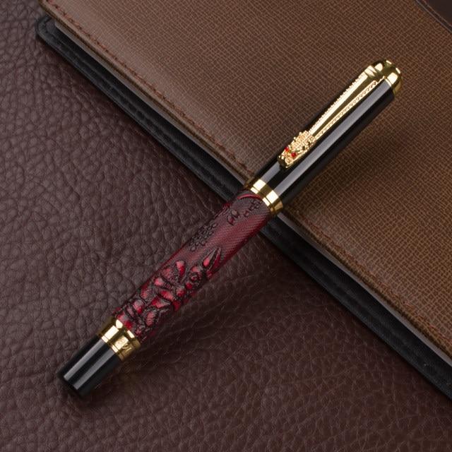 cc05fd07868 Online Shop Best Price!High Quality ink pen designer 3 d dragon Gold ...