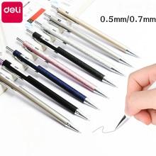цена на Deli Mechanical Pencil Cute Metal 0.5mm 0.7mm Children Automatic Pencil Low Center of Gravity Pencils Students Writing Supplies