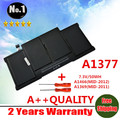"""Atacado Original novo bateria do portátil para Apple Macbook Air 13 """" A1369 [ 2010 produção ] substituir A1377 frete grátis"""