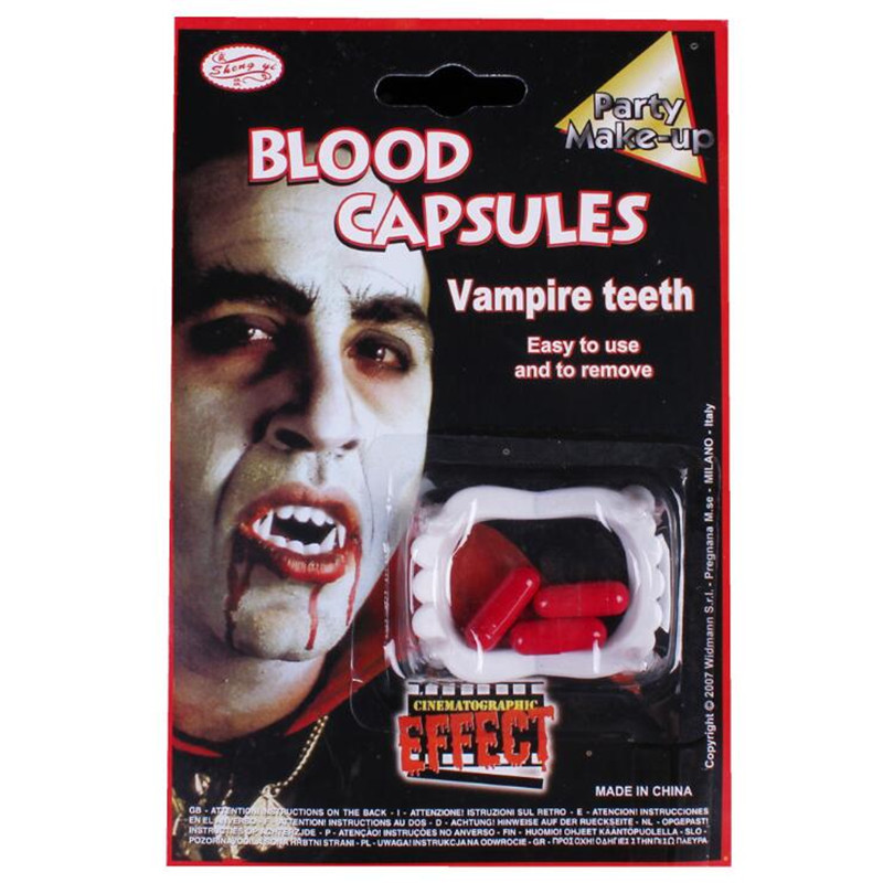 Scary Bloody Fake Zombie Vampire Teeth Tricky Toys Cosplay Props Party Dress Up Decoration Halloween Christmas Easy To Repair Novelty & Special Use Costumes & Accessories