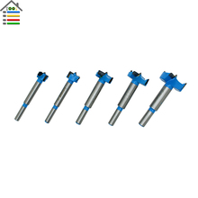 5PC 15 35mm Forstner Tips Hinge Boring Bit Drill Set for Carpentry Wood Hole Cutter Auger