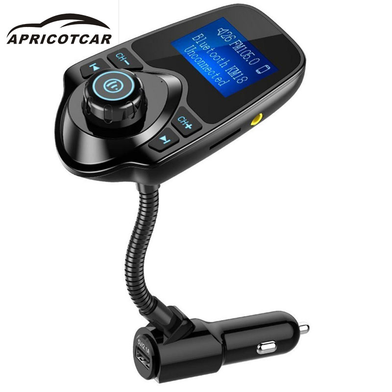 Car Kit Handsfree Wireless Bluetooth Full Frequency FM Transmitter Supports MP3/WMA/WAV Music Player In Car USB LCD Modulator