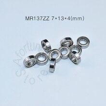 MR137ZZ bearing 7*13*4(mm)  ABEC-5 Metal Sealed Miniature Mini Bearing MR137 MR137ZZ chrome steel deep groove bearing цена 2017