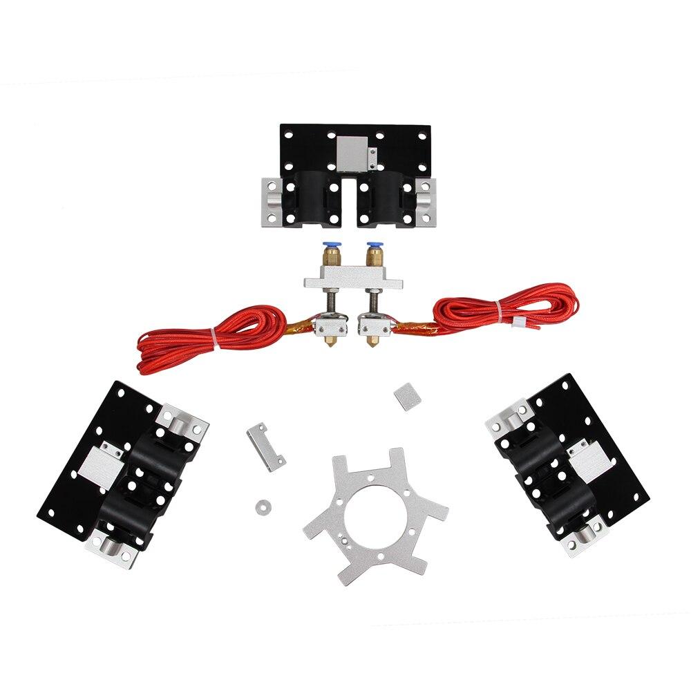 Mise à niveau des Kits d'extrudeuse pour nivellement automatique double tête Delta Rostock Mini G2S imprimante 3D