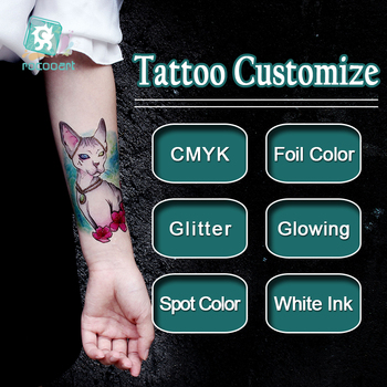Customized Personalized Waterproof Temporary Tattoo Sticker DIY Tattoo Make Your Own Design Tatoo For Logo/wedding