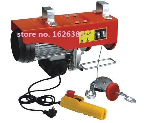 100-200KG 12M, 220V, 50Hz,1-phase mini electric steel wire rope hoist,  lifting PA mini block, crane equipment, lifting tool