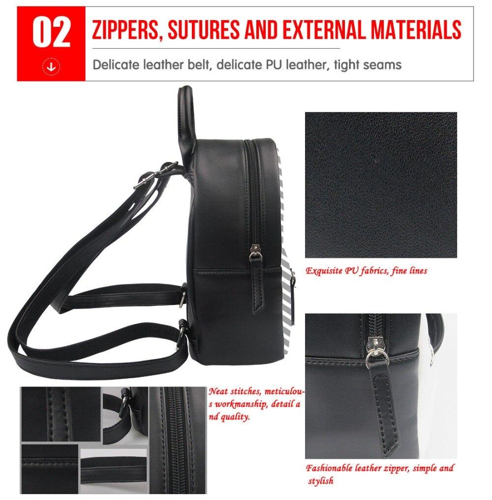 c92e284588b6 Nopersonality Small Women Travel Backpack Black Kpop BTS Print Shoulder Bag  Backpack Mini Ladies Teen Girls Bagpack Rucksack-in Backpacks from Luggage  ...