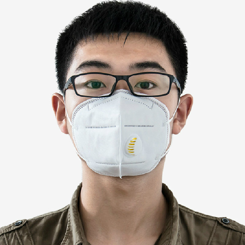 Free Shipping 5PCs Dust Masks Protection Face Prevent Mist Haze Pm2.5 Mouth Masks With Exhalation Valve adult pm2 5 dust mask anti haze cotton masks mouth muffle with exhale valve filter