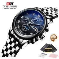 Top Brand Luxury Waterproof Automatic Watch Men Mechanical Watch Luminous Sport Casual Moon Prase Watch Relogio