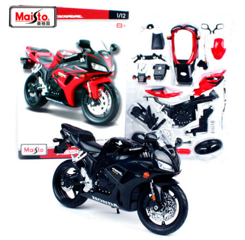 High Simulation Maisto 1:12 Honda CBR 1000RR DIY Assembled MOTORCYCLE BIKE Model For Kids Toys Kits Free Shipping(China)