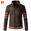Новый косплей X-men Росомахи Джеймс Логан Хоулетт косплей костюм куртка PU Мужчины Мотоцикл Кожаной Куртки Пальто Jaqueta 5XL