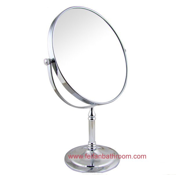 Perfect Free Shipping Bathroom Comestic Silver Mirror Desk Stand Fold Beauty Mirror  Bath Free Easy Rotate Make Up Mirror Brass MG 3008 In Bath Mirrors From  Home ...