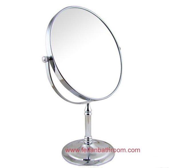 Free Shipping Bathroom Comestic Silver Mirror Desk Stand Fold Beauty Bath Easy Rotate Make
