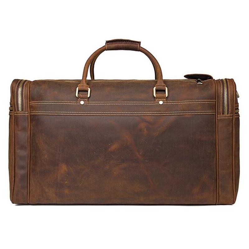 LEXEB Fullkornsläge Business Travel Duffle För Män Övernattning - Väskor för bagage och resor - Foto 3