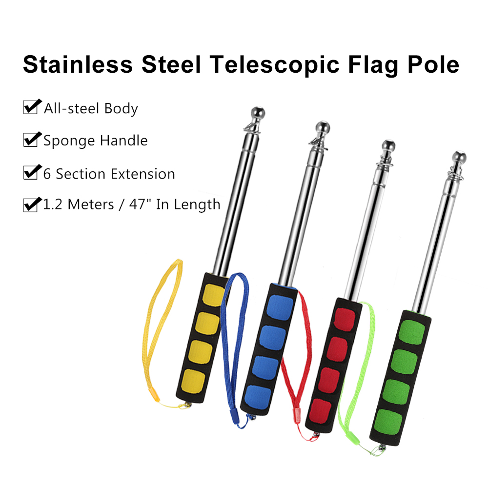 Banner banners banner poles outdoor display cheap custom - 47 Flagstaff 1 2 Meters Outdoor Flagpole Stainless Steel Telescopic Flag Pole For Teachers Teaching Pointer Tour Guide Banner