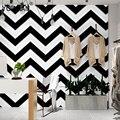 Роскошные 3D Черно-белые полосы обои флокированные нетканые обои рулон гостиной спальни ТВ Backgroud настенная бумага рулон