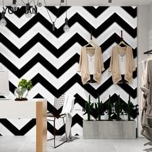 Luxury 3D Black white stripes Wallpaper Flocking Non-woven Roll Living Room bedroom TV Backgroud mural Wall Paper