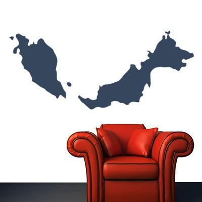 Malaysia map Globe Earth Country wall vinyl font b sticker b font font b custom b