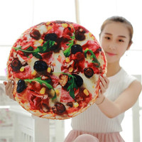 Creative 3D Pizza Bed Throw Pillow Christmas Gifts Filling Cotton Home Decorative Seat Travel Pillows Kids