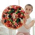 2017 Nueva Creativo 3D Pizza Bed Throw Pillow Regalos de Navidad Relleno de Algodón Home Decorativo Asiento Cojín Almohadas de Viaje Regalo de Los Cabritos