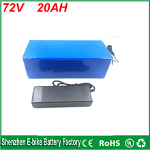 high quality 1000 times cycle 2000w Electric Bike Lithium Ion Battery 72v 20ah charger battery lithium 72v 1500w bike battery
