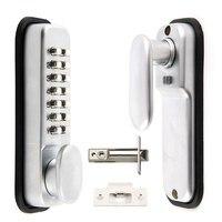 EWS Digital Push Button Door Lock Key Pad Code Combination Access Mechanical Keyless