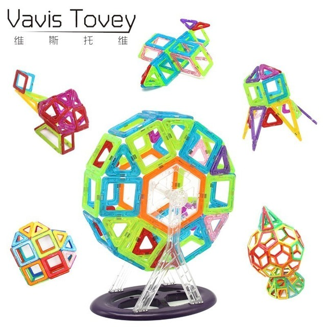 Vavis Tovey Mini 78/152/174 pcs Building Blocks Construction Model DIY 3D Magnetic Designer Educational Bricks Toys