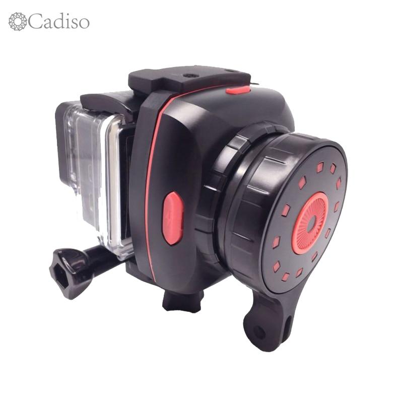 Cadiso Sport X1 De Poche 1-axe Cardan Stabilisateur Pour Gopro Hero Téléphone iphone 8 plus YI 4 k plus SJCAM AEE D'action Caméra Selfie