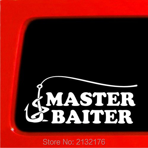 Online buy wholesale fishing jokes from china fishing for Fishing car stickers