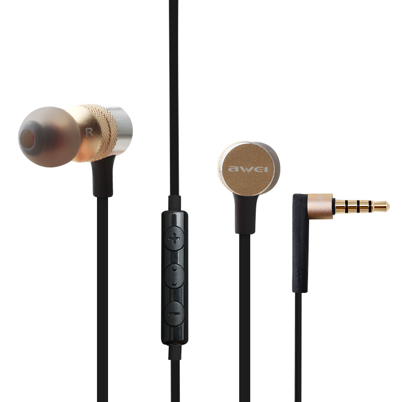 XY1205 Earphones Wired Stereo HiFi Music 3.5mm Plug Foldable In-Ear With Microphone for Android Iphone MP3 MP4+Phone Stand