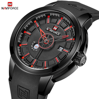NAVIFORCE Watches Mens Luxury Brand Sport Military Quartz Wristwatches Rubber Strap Analog 3D Face Waterproof Men