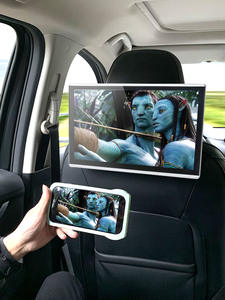 YAZH Headrest-Monitor Car-Bluetooth-Support Car-Android9.0 Transmitter HD Aux 2pcs Fm