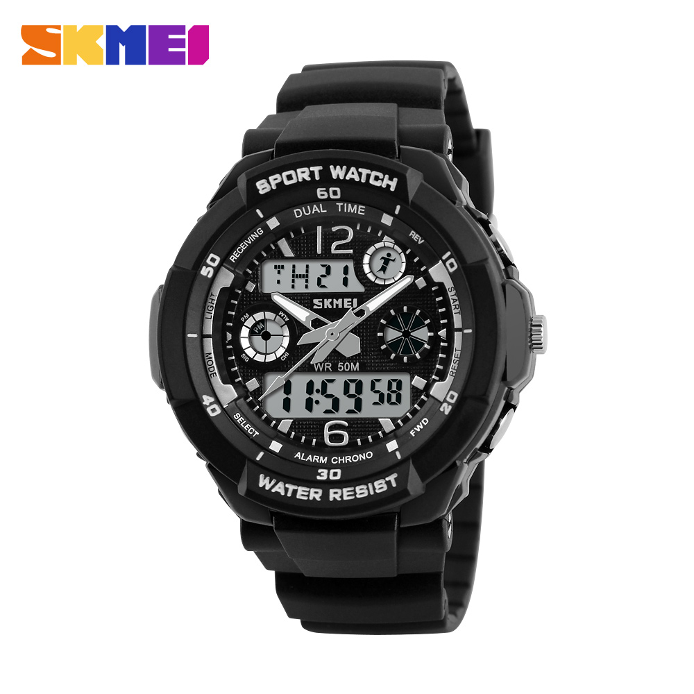 SKMEI Children Kids Watches Anti-Shock Waterproof Outdoor Sport Watch Men Fashion Digital Quartz Wristwatches Relogio Masculino