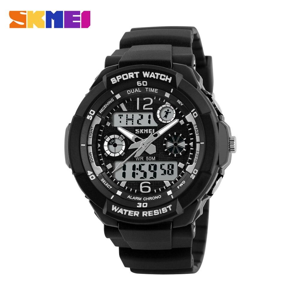 Skmei niños deportes relojes moda cuarzo reloj digital niños niñas niños 50 m relojes de pulsera impermeables 1060