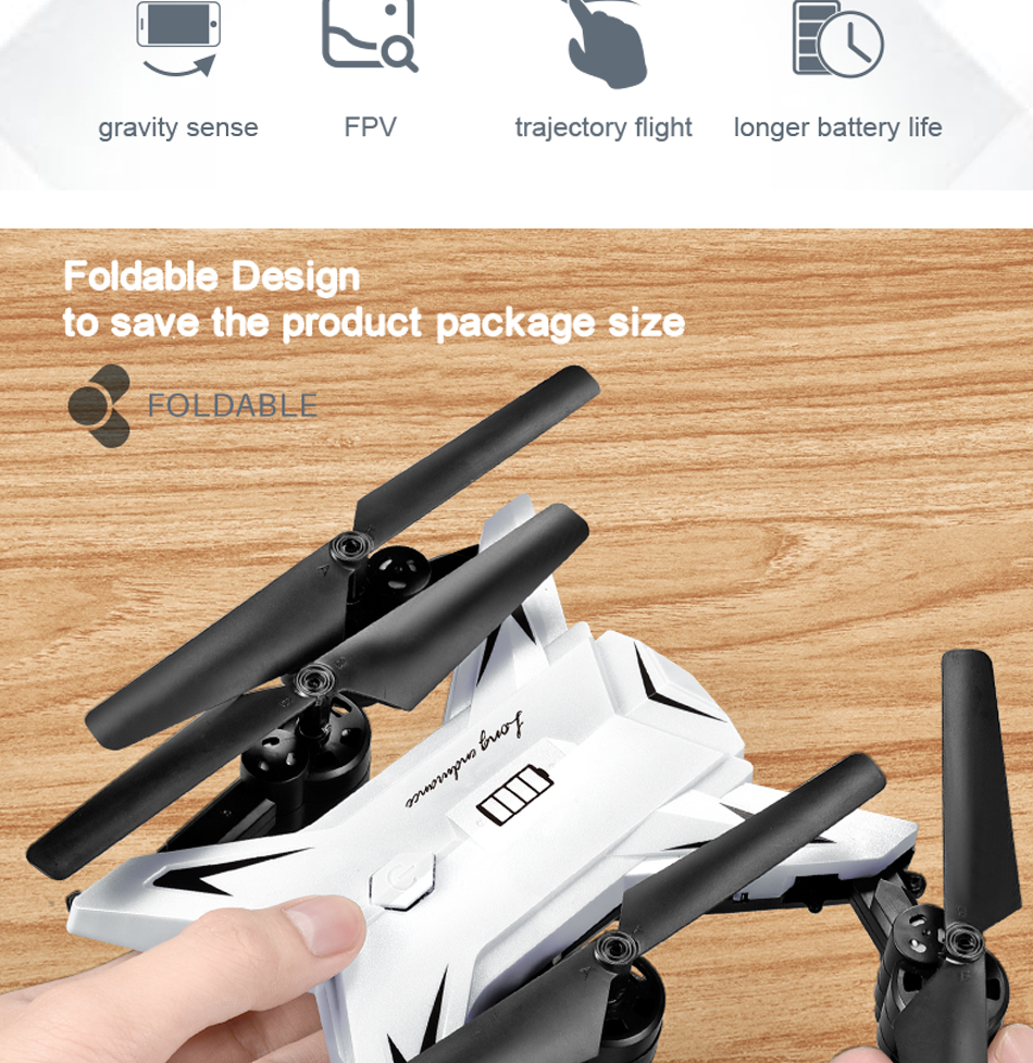 RC Helicopter KY601S Professional Drone with Camera HD 1080P WIFI FPV Quadcopter Drone Toys for Kids 15 Minutes Playing Time 5