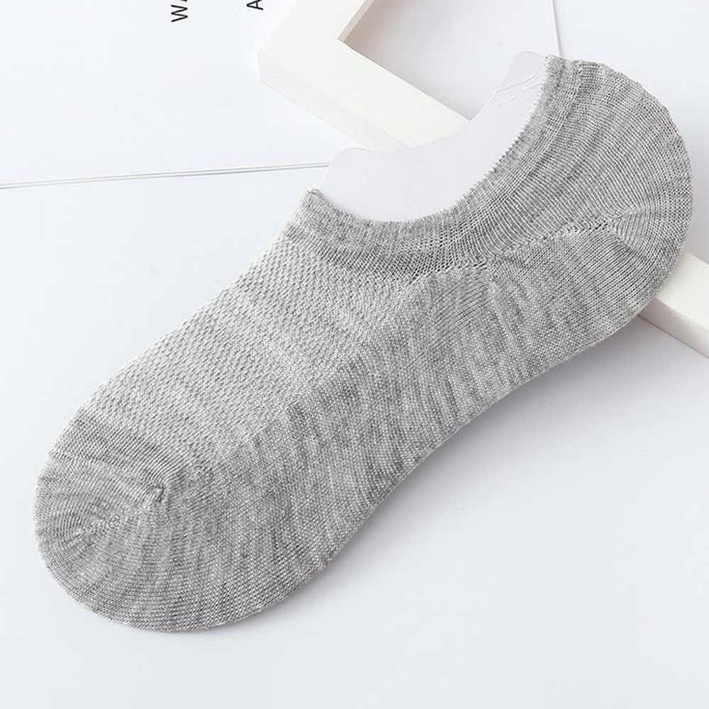 1 paar Unisex sokken vrouwen mannen zachte Comfortabele Pure Kleur Katoen Sok Slippers Korte Sokjes chaussette femme