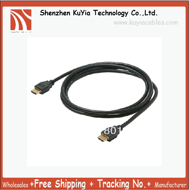 Money-saving and high quality 3FT 1.3 Gold HDMI to HDMI Cable For PS3 HDTV 1080p, Free Shippng+ Drop Shipping +Tracking number
