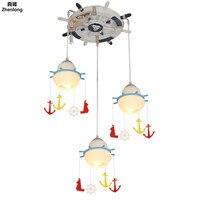Средиземноморский пиратский корабль руль свет светодиодный Детская комната мальчиков и девочек Спальня потолок для танцев Детская Регули