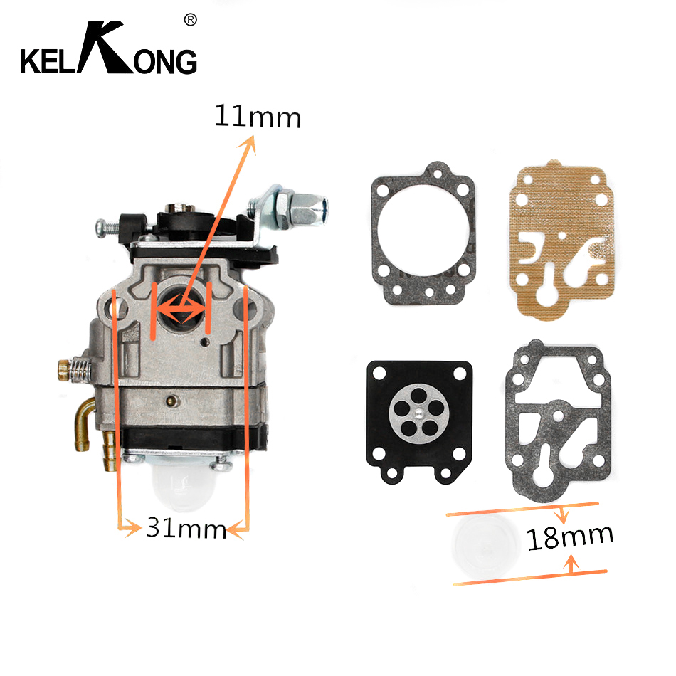 US $7 99 9% OFF|KELKONG Carburetor 10mm Carb Kit Walbro WYJ 138 PMW part  4088 fit for Mini Moto 33CC 36CC Kragen Zooma Gas Scooter Pocket Bike-in