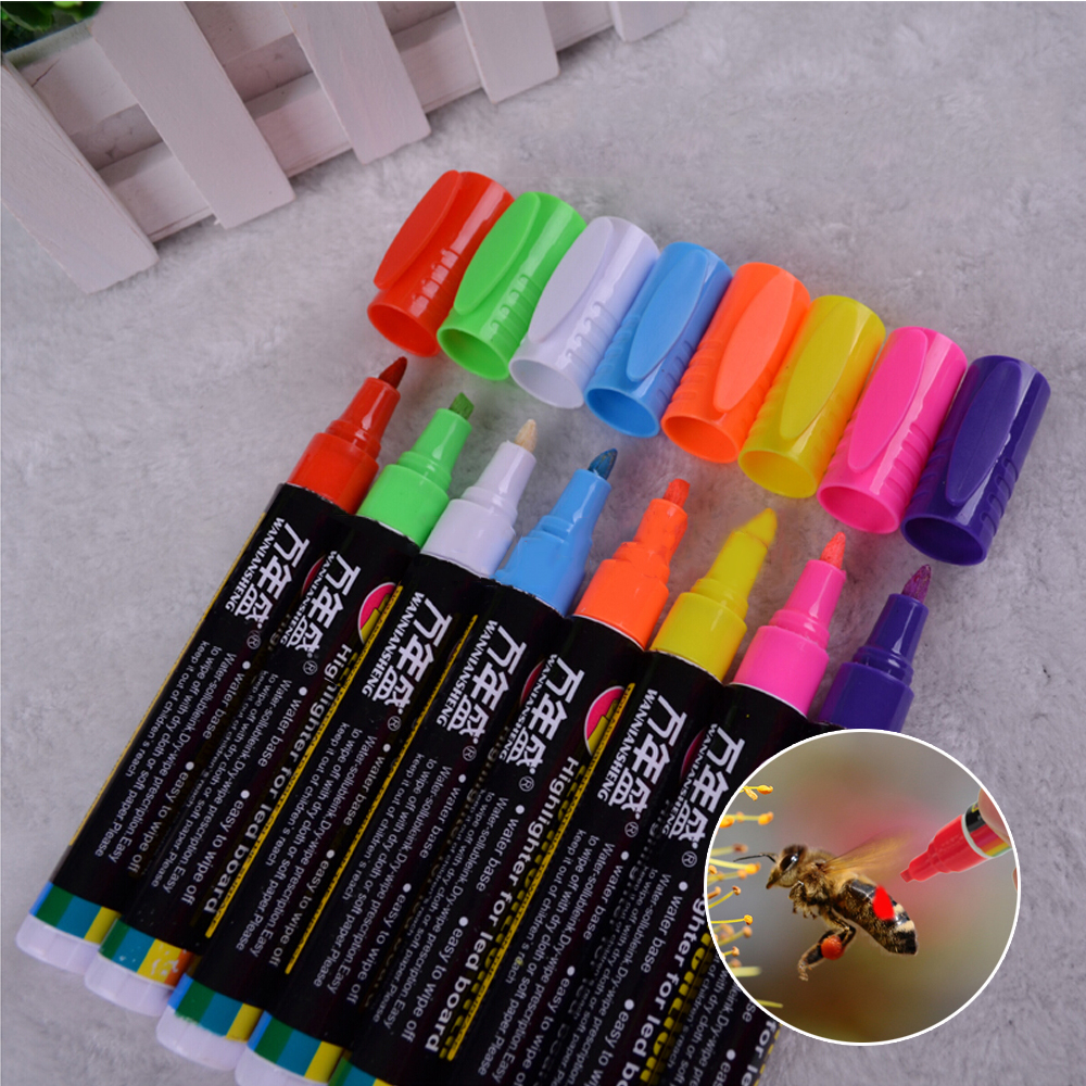 Bee Pen 1 Pcs Beekeeping Marking Marker Pen 8 Colors Beekeeper Highlighter Bees and Beekeeping Equipment Apiculture Tools