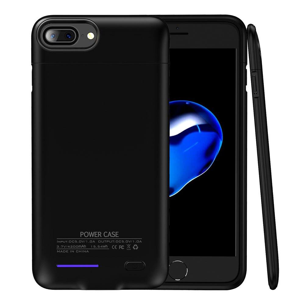 Батарея Зарядное устройство чехол для iPhone 6 plus <font><b>6S</b></font> плюс 7 Plus 4200 мАч резервного копирования Запасные Аккумуляторы для телефонов Портативный вне&#8230;