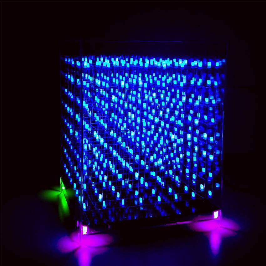 Scm 3d 888cube 8 8 8 Light Cube Diy Dual Color Electronic